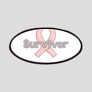 Survivor Pink Breast Cancer Ribbon Patches