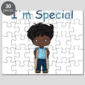 I'm Special - Boy - Dark - Crutches Puzzle