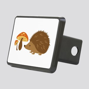 Hedgehog with Mushrooms Hitch Cover