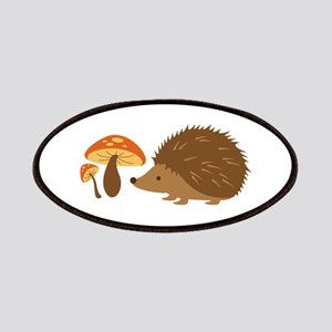 Hedgehog with Mushrooms Patches