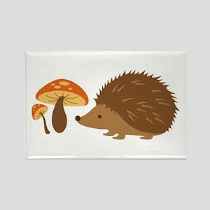 Hedgehog with Mushrooms Magnets
