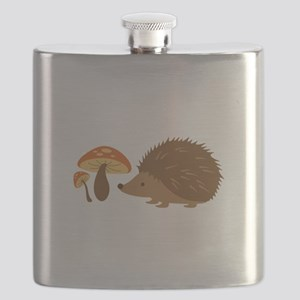 Hedgehog with Mushrooms Flask