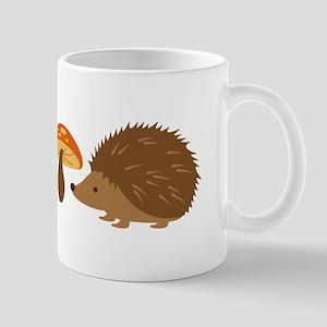 Hedgehog with Mushrooms Mugs