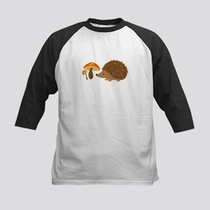 Hedgehog with Mushrooms Baseball Jersey