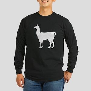 Llama Silhouette Long Sleeve T-Shirt