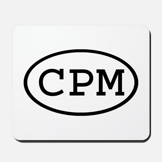 CPM Oval Mousepad