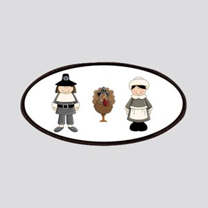 Thanksgiving - Pilgrim and Turkey Patches