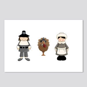 Thanksgiving - Pilgrim and Turkey Postcards (Packa