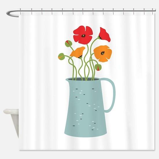 Flower Pitcher Shower Curtain