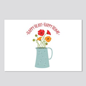 Happy Heart Happy Home Postcards (Package of 8)