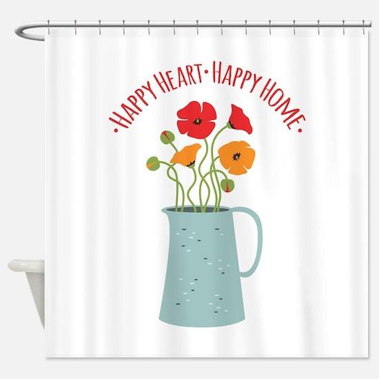 Happy Heart Happy Home Shower Curtain