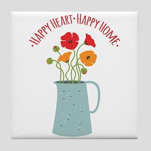 Happy Heart Happy Home Tile Coaster