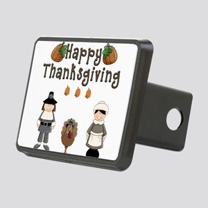 Happy Thanksgiving Pilgrims and Turkey Hitch Cover
