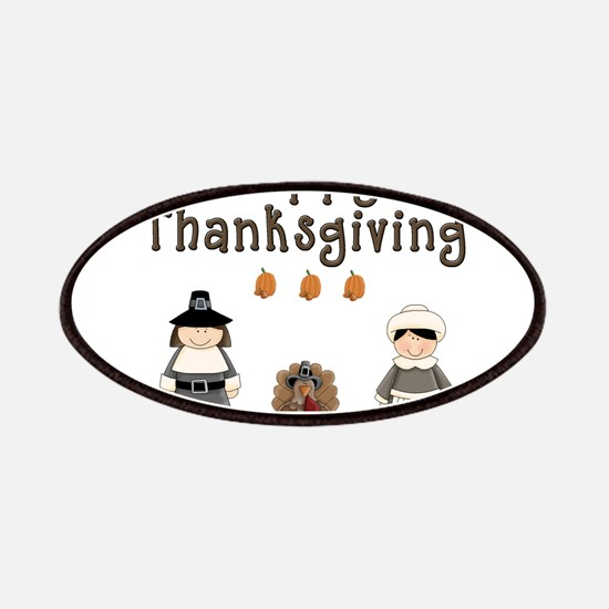Happy Thanksgiving Pilgrims and Turkey Patches