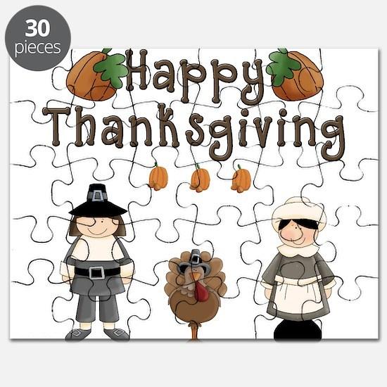 Happy Thanksgiving Pilgrims and Turkey Puzzle