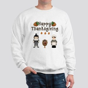 Happy Thanksgiving Pilgrims and Turkey Sweatshirt