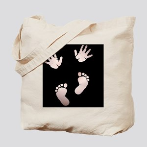 Baby Hands and Feet Tote Bag