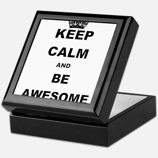 KEEP CALM AND BE AWESOME Keepsake Box