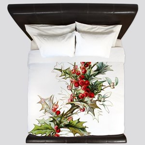 Holly and berries King Duvet