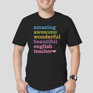 English Teacher Men's Fitted T-Shirt (dark)