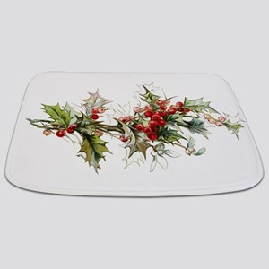 Holly and berries Bathmat