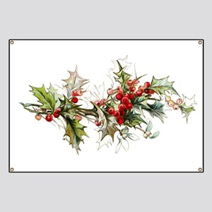 Holly and berries Banner