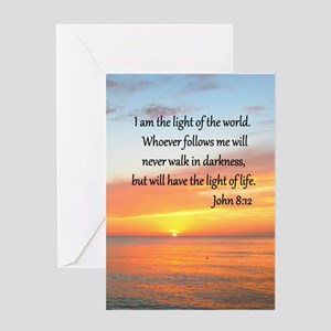 JOHN 8:12 Greeting Card