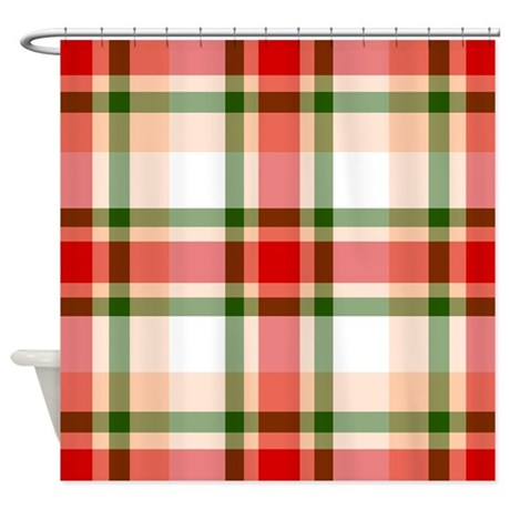Christmas Plaid Shower Curtain By Thepluralmind