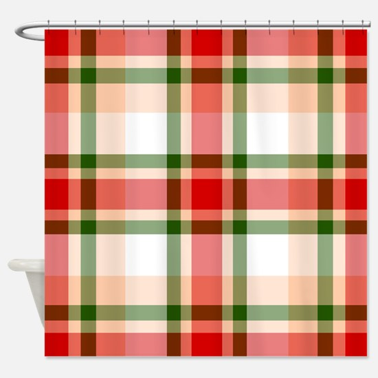 Christmas Plaid Shower Curtain