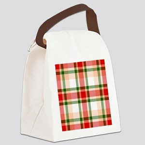 Christmas Plaid Canvas Lunch Bag