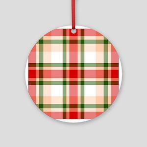 Christmas Plaid Ornament (Round)