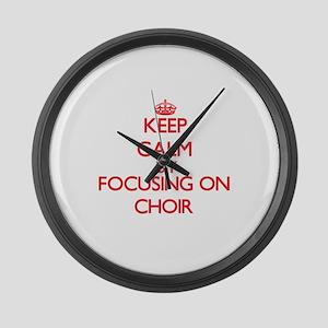 Choir Large Wall Clock