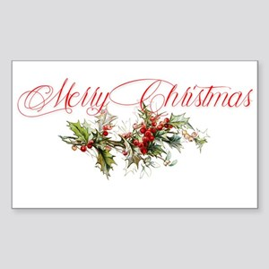 Merry Christmas Holly and berries Sticker