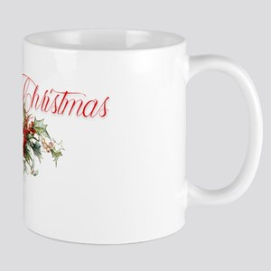 Merry Christmas Holly and berries Mugs
