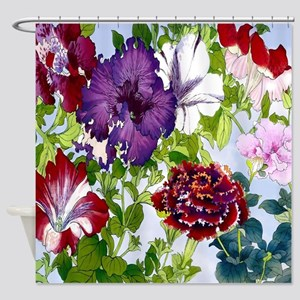 Dazzlin' Petunia Power Shower Curtain