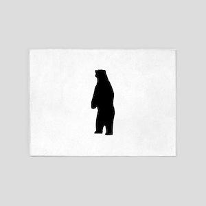 Standing Bear Silhouette 5'x7'Area Rug