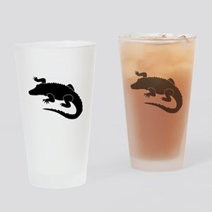 Alligator Silhouette Drinking Glass