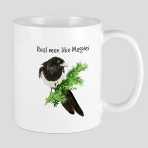 Real men like Magpies Humor Bird Quote Mugs