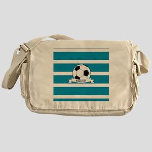 Soccer Ball and Banner Messenger Bag
