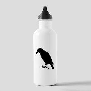 Crow Silhouette Water Bottle