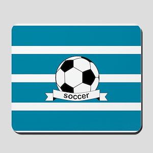 Soccer Ball and Banner Mousepad