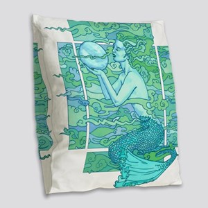 Pisces Seas Burlap Throw Pillow