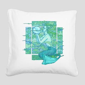 Pisces Seas Square Canvas Pillow