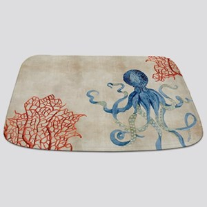 Indigo Ocean C Octopus N Red Bathmat