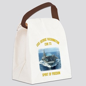 USS George Washington CVN 73 Canvas Lunch Bag