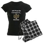 Christmas Morels Women's Dark Pajamas