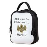 Christmas Morels Neoprene Lunch Bag