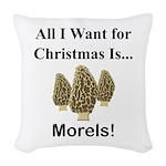 Christmas Morels Woven Throw Pillow