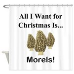 Christmas Morels Shower Curtain