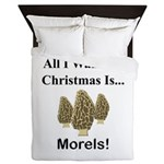 Christmas Morels Queen Duvet
